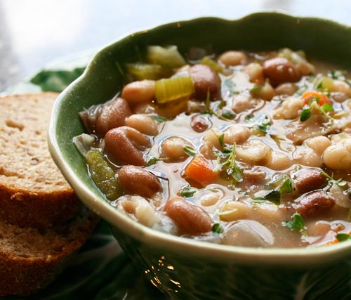 A country peasant soup that is heart enough to be a main course.