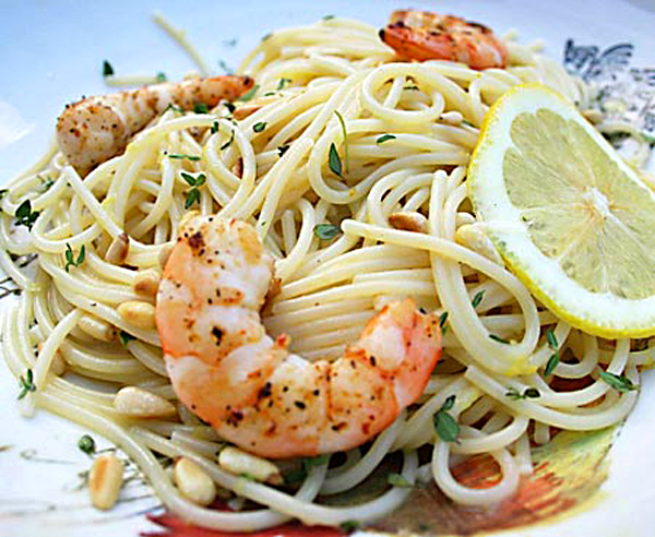Lemon Pasta With Grilled Shrimp Italian Food Forever