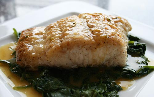 This rich citrus butter sauce pairs beautifully with halibut.