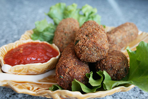 Crisp on the outside and tender on the inside, these eggplant croquettes are great year round.