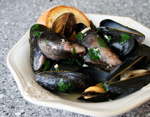Serve this dish with lots of crusty bread to sop up the garlic butter sauce.