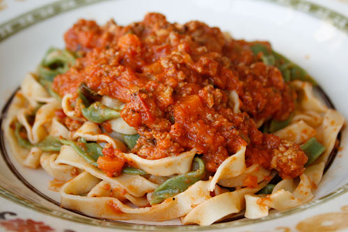 This tasty meat sauce was created in the region around Bologna, which explains how it got it's name.