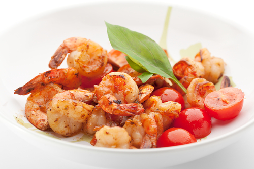 Olive oil infused with orange peel adds a unique flavor to this simple shrimp recipe.