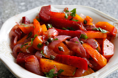A great side dish for roasted meats, or to be used on an antipasti platter.