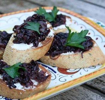 Bruschetta With Radicchio And Goat Cheese – Italian Food Forever
