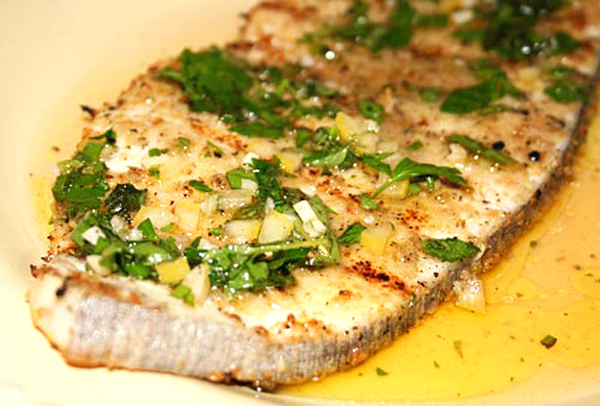 Grilled sicilian swordfish with salmoriglio sauce for Sword fish recipes