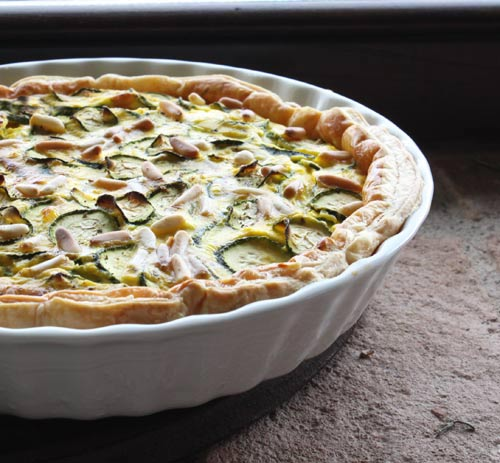 Savory tarts such as this one are great served as a light entree along with a big salad.
