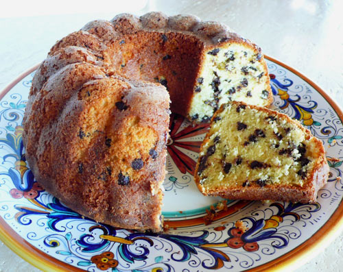 Cream Cheese Chocolate Chip Pound Cake Italian Food Forever