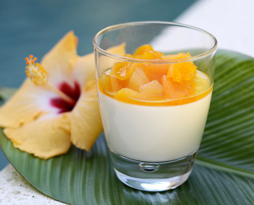 Rich, creamy and very healthy too. This light dessert would be great after any meal.
