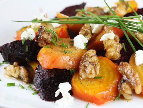 roasted beet salad with walnuts and goat cheese italian food forever