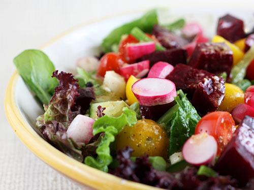 Farmer S Market Salad With Dijon Mustard Vinaigrette