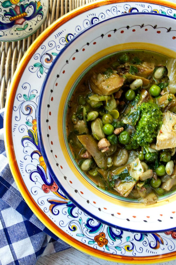 A traditional Italian country stew made of the seasons best vegetables.