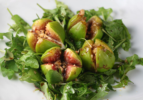 The natural sweetness of figs works really well with gorgonzola cheese.