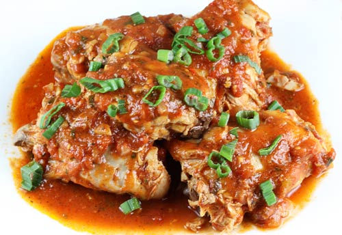 Chicken In Spicy Tomato Sauce Italian Food Forever