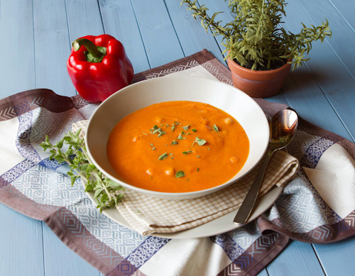 A healthy yet delicious, and colorful soup the whole family will enjoy.