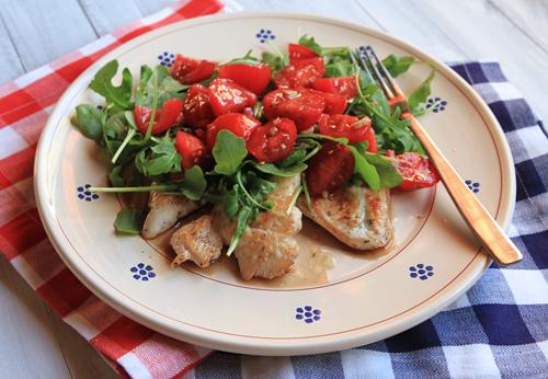 Chicken With Arugula & Tomato Salad – Italian Food Forever