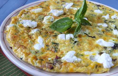 Grated Zucchini Frittata With Goat Cheese – Italian Food Forever