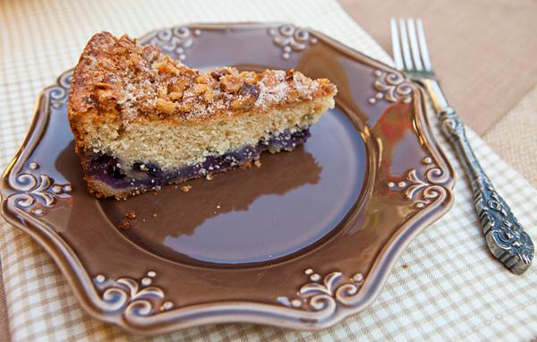 Oat Flour Blueberry Coffee Cake