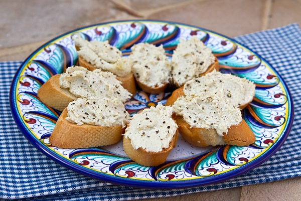 Whipped salted cod is served on slices of polenta or bread in this Venetian specialty.