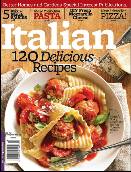 Im in better homes gardens ultimate italian 2012 italian food i have been online sharing my italian recipes for over 11 years now and i love getting feedback from my blog visitors although some day my goal is to write forumfinder Images