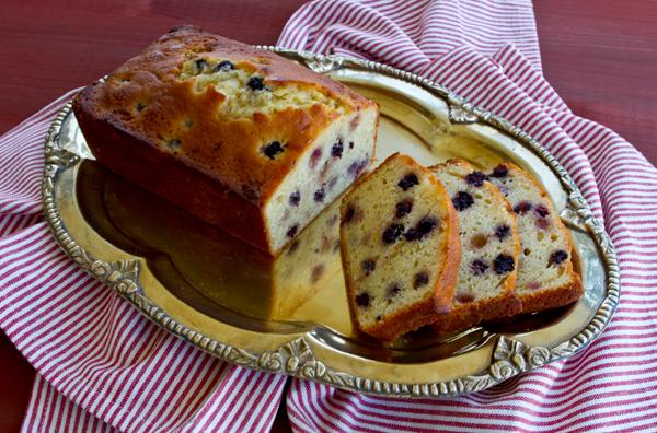 Wild Blackberry Lemon Quick Bread