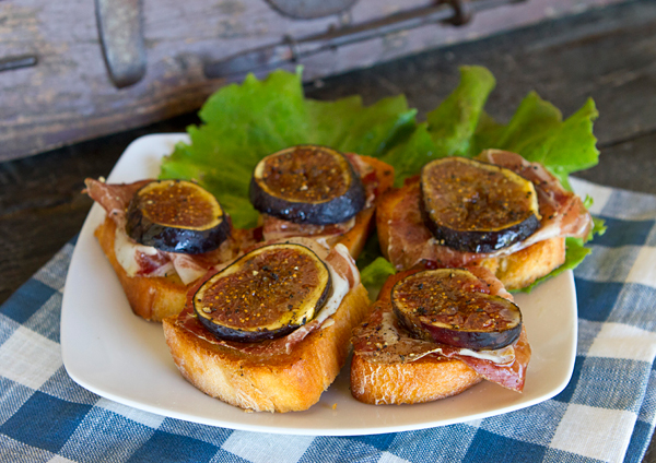 Sweet figs are balanced with salty capocollo in this easy appetizer for fall.