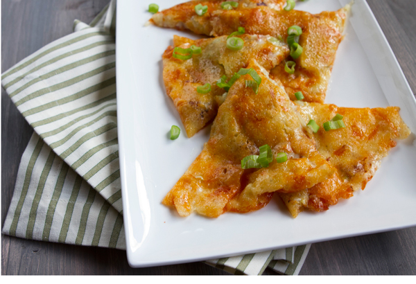 Adding potatoes, pancetta and green onions to these cheese crisps creates a much heartier appetizer.