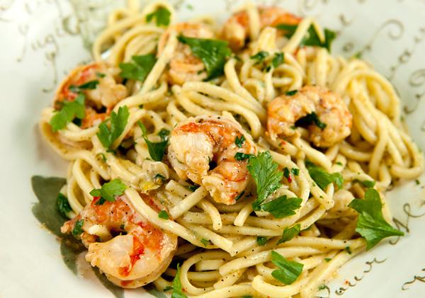 Shrimp scampi recipe w pasta