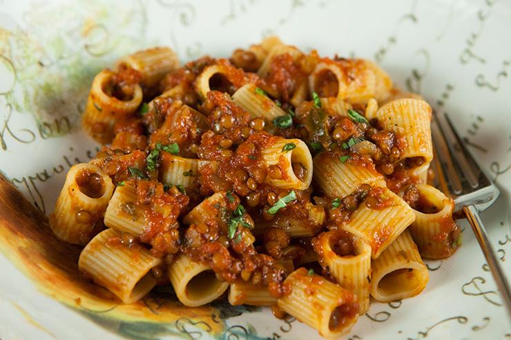 Pasta With Lentil Bolognese Italian Food Forever