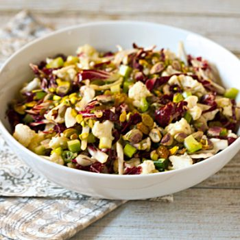 Raw Cauliflower Salad With Radicchio, Pistachios, & Golden Raisins ...