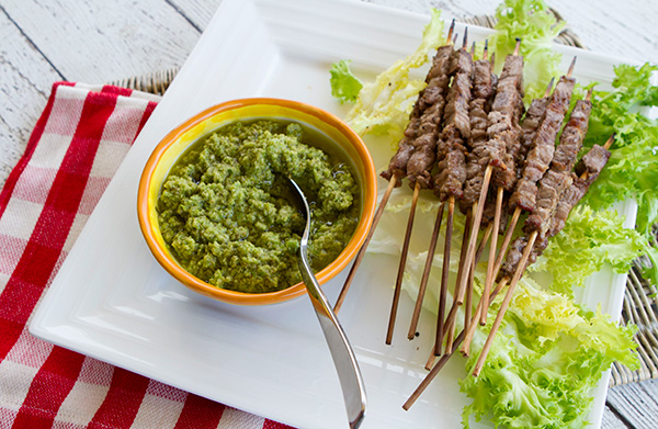 A vibrant flavored olive based Umbrian sauce that is traditionally served on grilled meat.