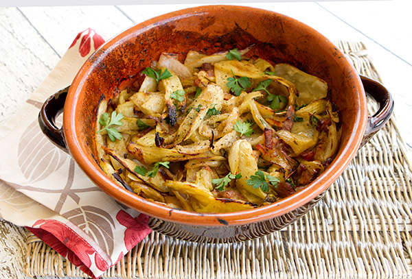 Roasting fennel creates a very tender, almost sweet flavored dish.
