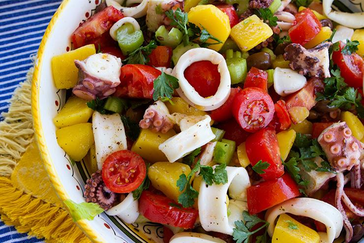 Amalfi Style Octopus & Squid Salad – Italian Food Forever