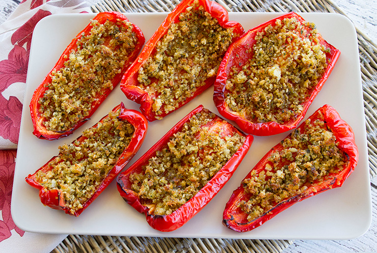 Anchovy Crumb Stuffed Peppers Italian Food Forever