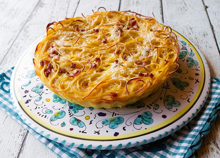 Spaghetti Carbonara Pie