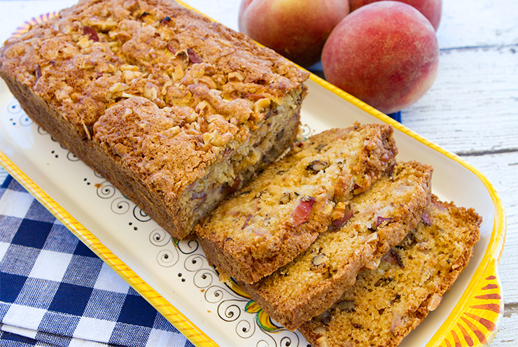 White Peach Walnut Loaf