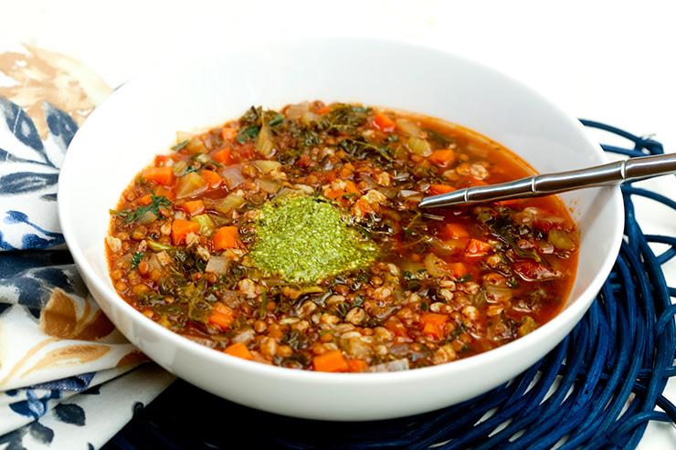 New Year's Day Lentil & Farro Soup | Italian Food Forever