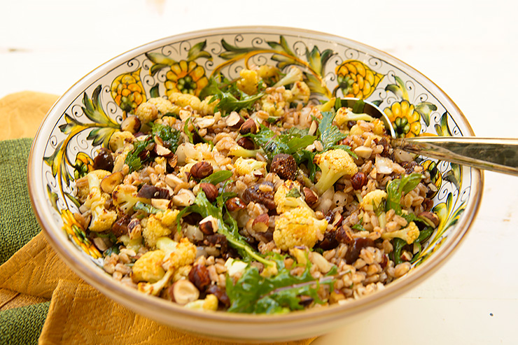 Roasted Cauliflower And Red Pepper Farro Salad Recipe ...