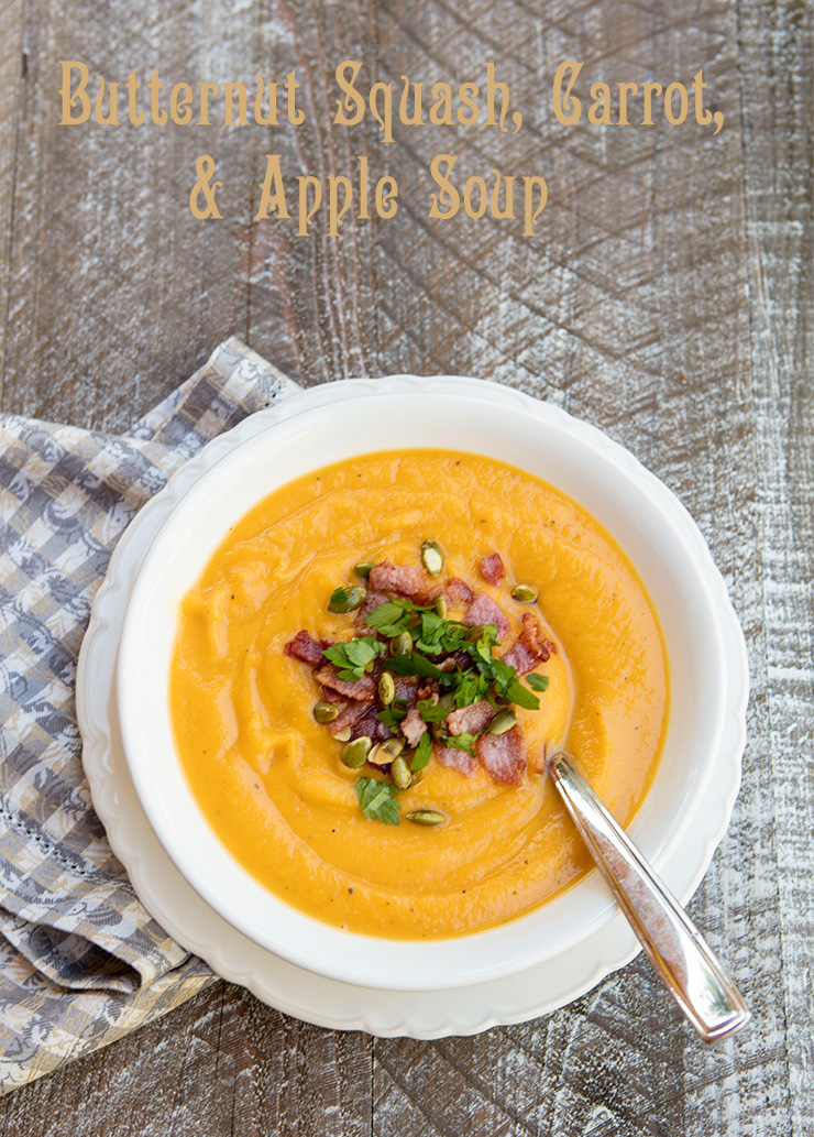 Roasted Butternut Squash, Carrot & Apple Soup – Italian Food Forever