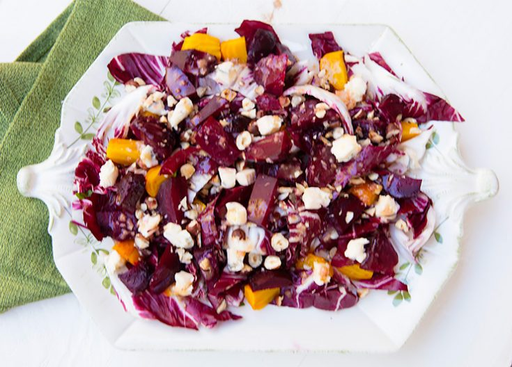 A unique citrus salad that is a great starter for any meal.