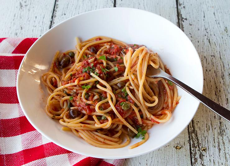 Spaghetti Alla Puttanesca Italian Food Forever