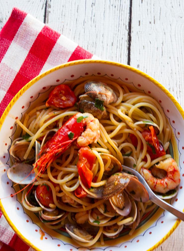 Italienische Pasta alla Puttanesca