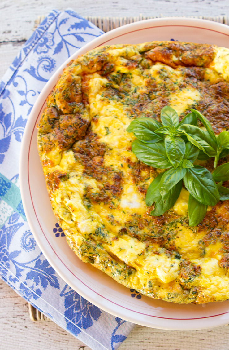 Herb and Ricotta Cheese Frittata – Italian Food Forever