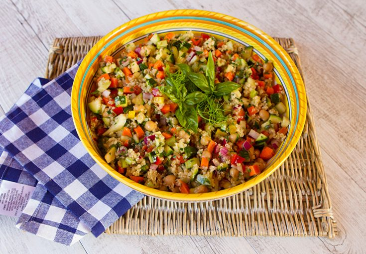 This crunchy salad is great when you want to get back to healthy eating.