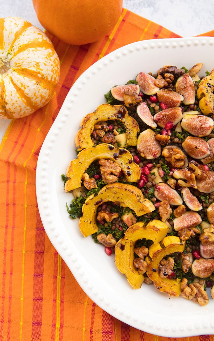 This fall salad is hearty enough to be a complete meal!