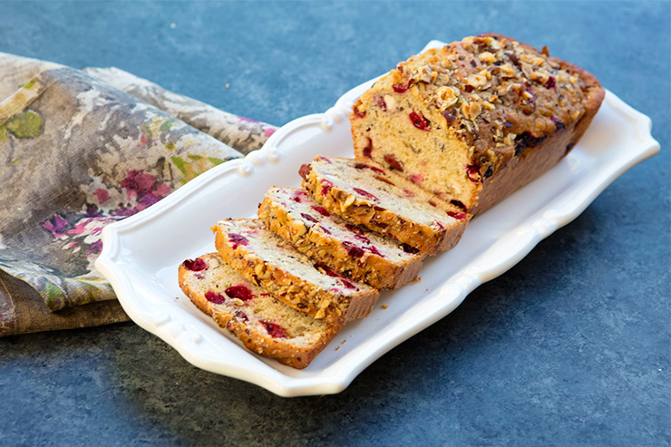 Cranberry Orange Loaves With Hazelnuts