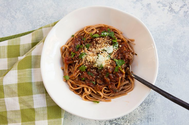 A hearty vegetable based ragu so good you'll never miss the meat!