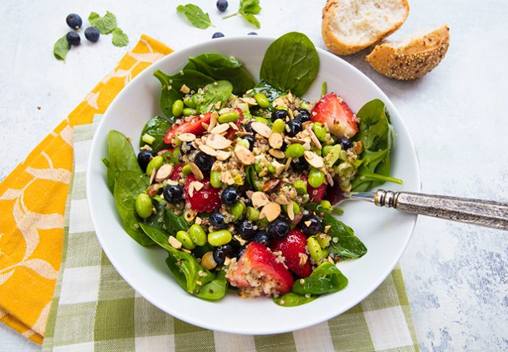 A light, refreshing salad to enjoy when berries are in season.