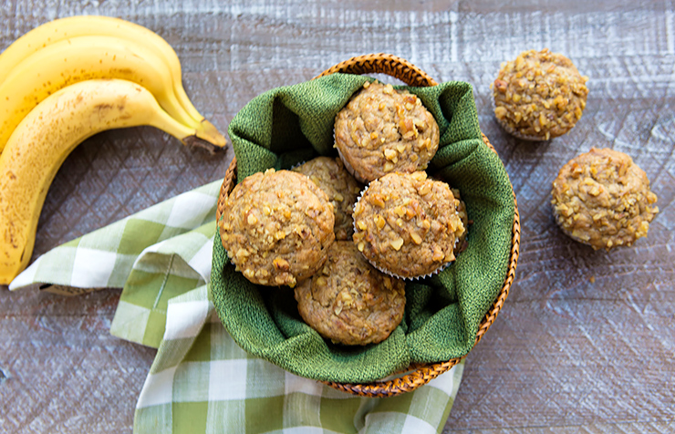 Healthier Roasted Banana Nut Muffins – Italian Food Forever