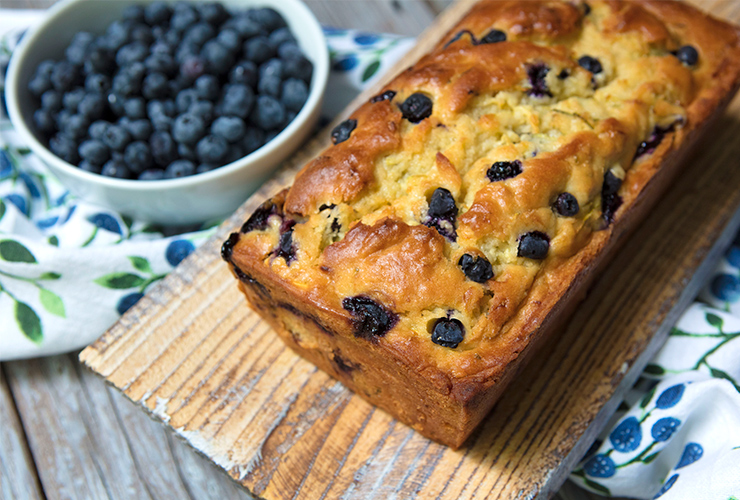 Lemony Zucchini, Blueberry & Buttermilk Bread & A Loss In The Family